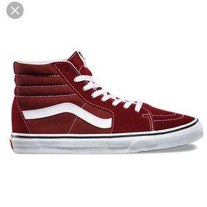 Vans sk8 hi top shoes, size 7